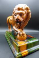 Late 19th Century Staffordshire Figure of Le Lion Qui Marche (2 of 5)