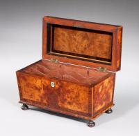 Regency Period Burr Yew Shaped Box (4 of 4)