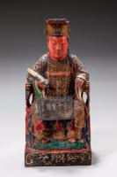 Pair of Polychrome 18th Century Seated Chinese Figures (3 of 4)