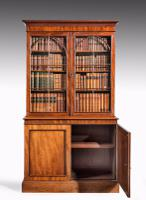 Regency Period Mahogany Bookcase with Gothic Tracery (4 of 7)