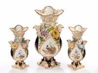 Late 19th Century Trio of Coalbrookdale Vases (2 of 8)