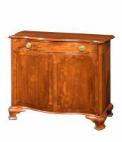 Chippendale Period Mahogany Serpentine Side Cabinet Retaining the Period Brass