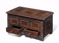 17th Century Style Oak Miniature Kist C.1890 (3 of 5)