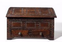 17th Century Style Oak Miniature Kist C.1890 (2 of 5)