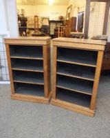 Pair of Antique Open Bookcases