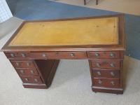 Antique Pedestal Desk (2 of 5)
