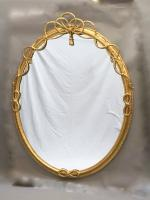 Large Gilt Oval Trafalgar Overmantle Mirror (9 of 9)