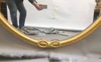 Large Gilt Oval Trafalgar Overmantle Mirror (8 of 9)