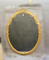 Large Gilt Oval Trafalgar Overmantle Mirror (3 of 9)