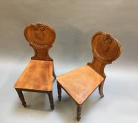 Pair of George IV Hall Chairs (3 of 10)