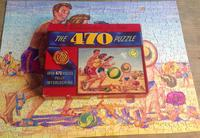 1950s Waddingtons 470 Piece Cardboard Jigsaw, Beach Scene Complete