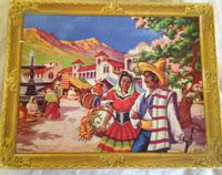 1950s Waddingtons 470 Piece Jigsaw Mexico, Complete