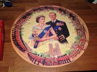 1953 Waddingtons Coronation Round Jigsaw Complete