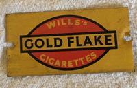 1930s Hornby oo Gauge Gold Flake Tin Platform Sign