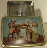 Vintage Clarnico Georgian Children Biscuit Tin