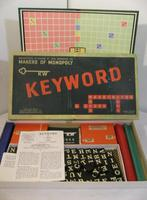 RARE 1953 Waddingtons Keyword Board Game (boxed)