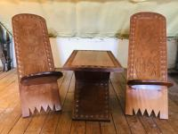 African Coffee Table & Chairs (3 of 10)