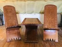 African Coffee Table & Chairs (4 of 10)