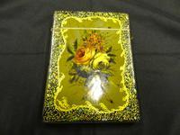 Victorian Papier Mache Card Case, Pearl Inlaid Borders, Birmingham