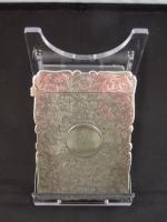 Victorian Silver Card Case, Birmingham 'F.M' c. 1888