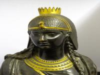 Bronze & Gilt-Bronze Bust of Cleopatra, French Made, 19th Century (5 of 18)