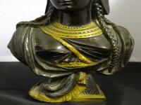 Bronze & Gilt-Bronze Bust of Cleopatra, French Made, 19th Century (7 of 18)