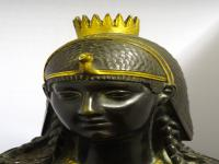 Bronze & Gilt-Bronze Bust of Cleopatra, French Made, 19th Century (6 of 18)