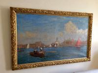 Southport Marine Lake, Oil On Canvas Painting, Philip Thomson Gilchrist C.1904