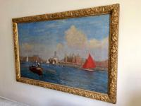 Southport Marine Lake, Oil On Canvas Painting, Philip Thomson Gilchrist C.1904 (5 of 5)