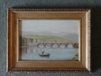 Lovely 19th Century 'Italian Lake & Vessel Landscape' Seascape Oil Painting c.1890 (2 of 6)