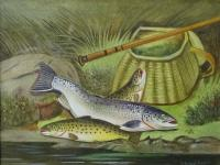 'A Roland Knight (1879-1921) 'catch of the day' Original Watercolour Painting