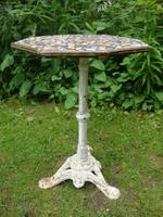 19th Century Cast Iron Mosaic Top Table for TLC - A Queen Victoria Commemoration Piece