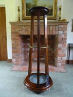 Rare 19thc Arts & Crafts Solid Mahogany Jardiniere Plant & Umbrella Stand