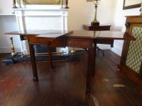 Rare Magnificent William IV Period Cuban Mahogany Folding Writing Games Table