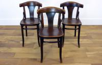 Decent Set of 3 Vintage Thonet Bentwood Dining Chairs