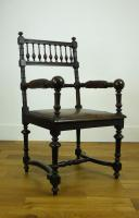 Charming Victorian Oak Throne Armchair (10 of 15)