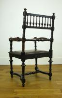 Charming Victorian Oak Throne Armchair (13 of 15)