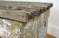 Delightfully Aged 1930s Concrete & Wood Garden Bench Table (8 of 8)