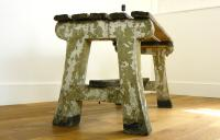 Delightfully Aged 1930s Concrete & Wood Garden Bench Table (7 of 8)