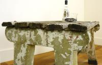 Delightfully Aged 1930s Concrete & Wood Garden Bench Table (6 of 8)