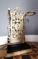 Victorian Cast Iron Stick Hall Stand Untouched Condition (2 of 13)