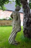 Attractively Aged Garden Statue Maiden with Wine Jugs (6 of 9)
