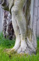 Attractively Aged Garden Statue Maiden with Wine Jugs (5 of 9)