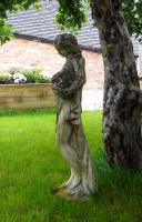 Attractively Aged Garden Statue Maiden with Wine Jugs (9 of 9)