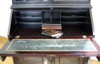 Late Victorian Ebonised Chippendale Revival Bookcase Bureau (3 of 14)