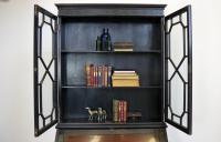Late Victorian Ebonised Chippendale Revival Bookcase Bureau (10 of 14)