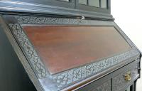 Late Victorian Ebonised Chippendale Revival Bookcase Bureau (7 of 14)