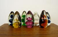 Collection of 7 Mid-Century Wedgwood Glass Paperweights 1 (2 of 8)