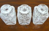 Set of 3 English Cut Glass Spirit Decanters c.1915 (6 of 10)