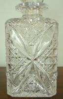 Set of 3 English Cut Glass Spirit Decanters c.1915 (7 of 10)